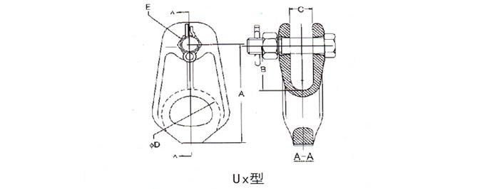 手绘线稿电力工程图