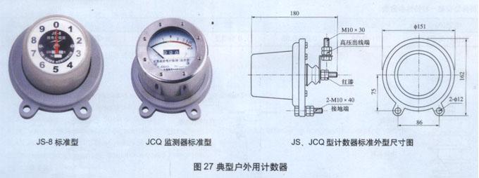 计数器作为避雷器的特殊配套产品,与避雷器串联